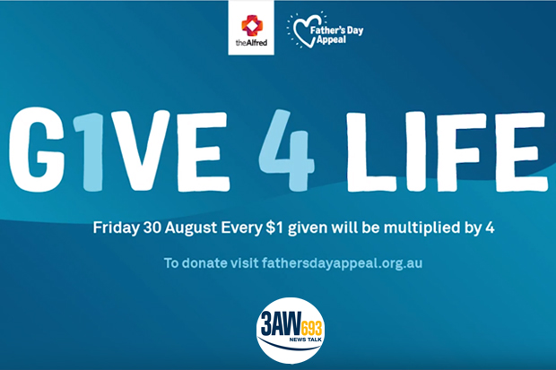 Article image for Donate: 3AW live from the The Alfred hospital Fathers Day appeal
