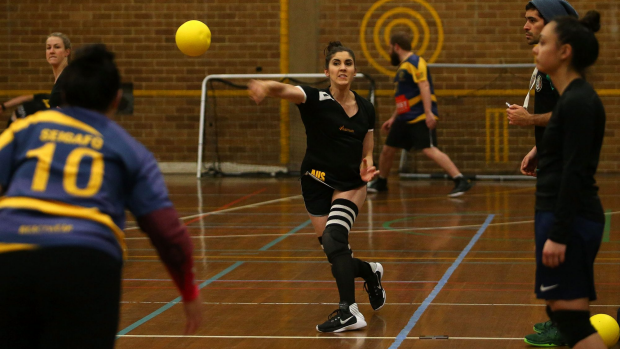 Article image for Dodgeball champ Amber Darwinkel chats to Tom Elliott