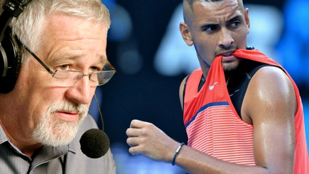 Article image for Neil Mitchell says Nick Kyrgios should retire from tennis after latest 'embarrassment'
