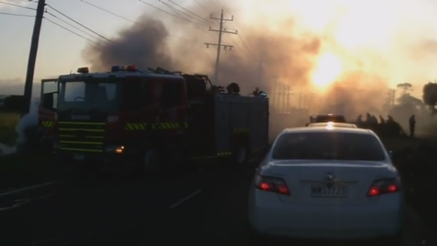 Article image for Dash-cam footage of Kororoit Creek Road car fire