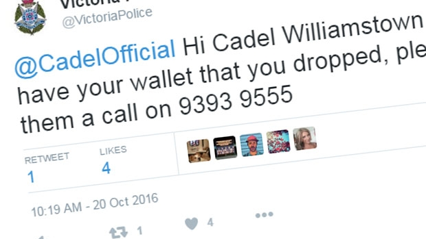Article image for Police send message to Cadel Evans about lost wallet