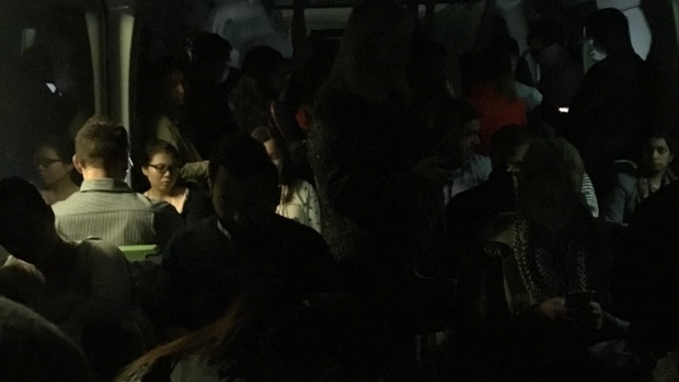 Article image for Commuters plunged into darkness in the city loop