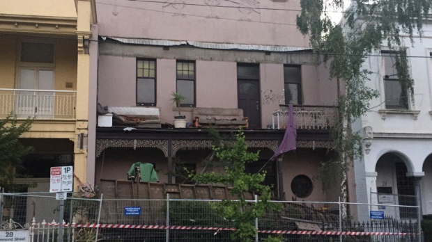 Article image for Lucky escape for Carlton residents after a balcony collapsed