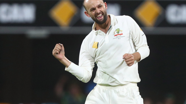Article image for Nathan Lyon takes wicket on delivery intended for world-record attempt