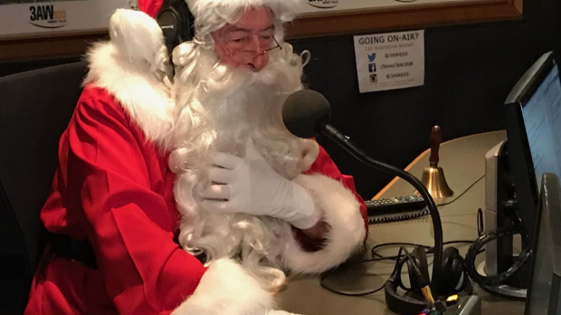 Article image for Santa Claus joins Tony Jones exclusively in studio to take your calls