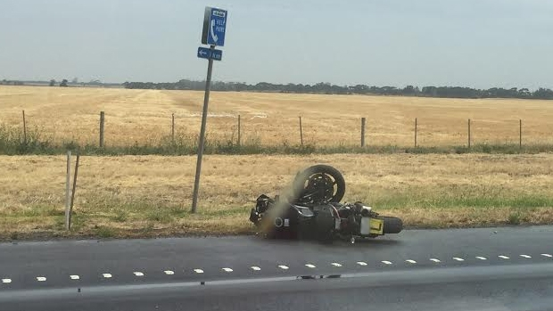Article image for Motorcycle crash causes Princes Freeway to close at Little River