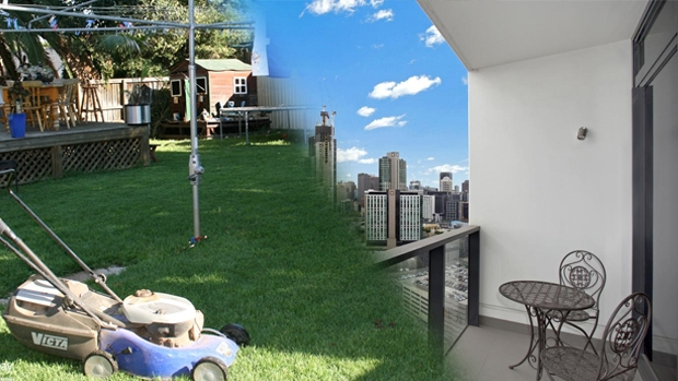 Article image for First homebuyers are being told to choose between city living or a backyard