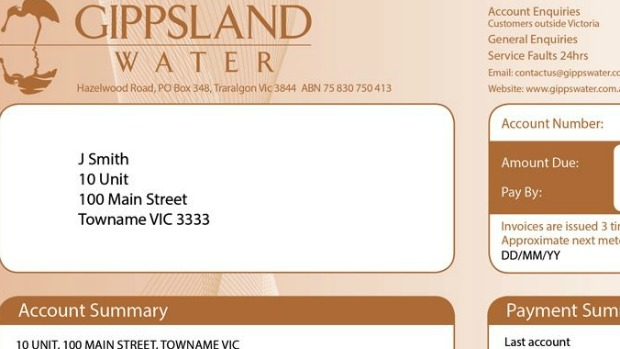 Article image for RUMOUR CONFIRMED: Gippsland Water sends out brown water bills