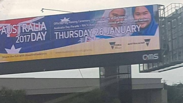 Article image for Controversial Australia Day billboard set to make comeback after crowd funding campaign