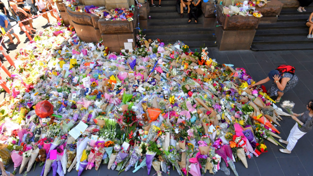 Article image for Lord Mayor Robert Doyle welcomes 'place of reflection' at the site of Bourke Street tragedy