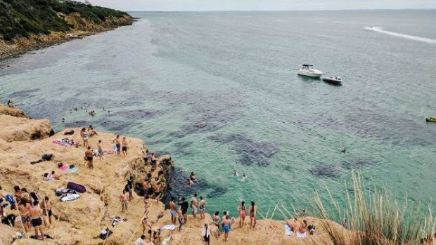 Article image for The Pillars at Mt Martha closed off with concerns of dangerous cliff diving, rubbish