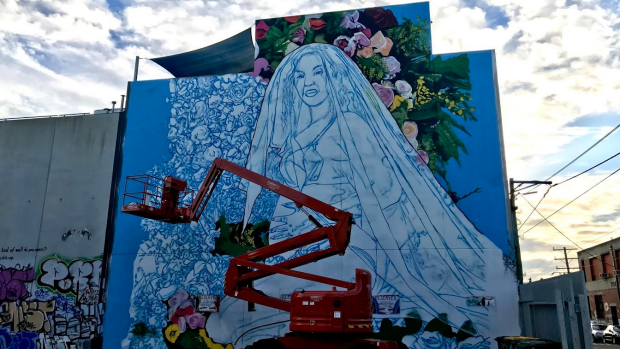 Article image for RUMOUR FILE: Mural emerges of pop star Beyonc? following pregnancy announcment