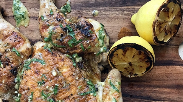 Article image for Tobie Puttock's recipe for BBQ Chicken with Lemon, Mustard and Parsley