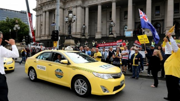 Article image for Another planned taxi protest is expected to cause disruption for drivers
