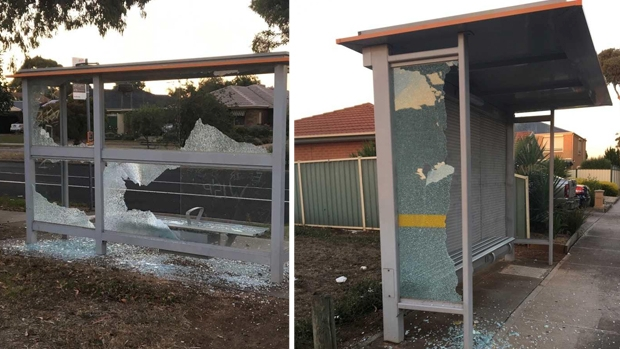 Article image for Bus shelters vandalised at Taylors Lakes
