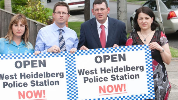 Article image for Vandalised Heidelberg West police station 'virtually closed' says opposition