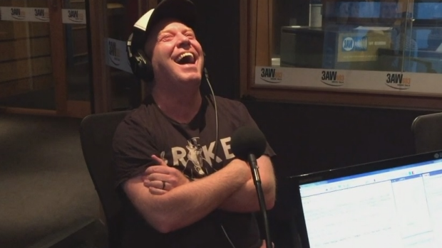 Article image for Peter Helliar in studio with Ross and John