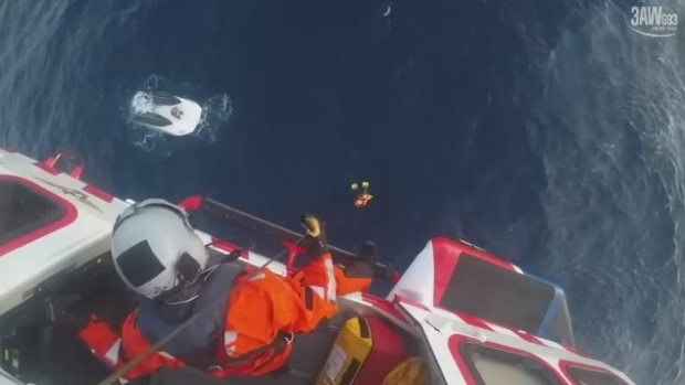 Article image for Man winched to safety after his boat capsized in Bass Strait