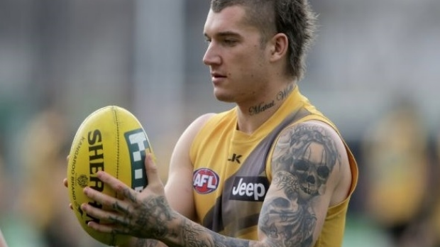 Article image for Dustin Martin walks off on press conference, as contract speculation continues