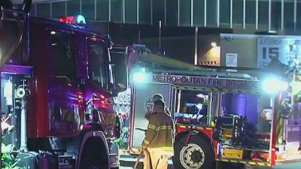 Article image for Suspicious fire destroys luxury cars at Moorabbin towing business