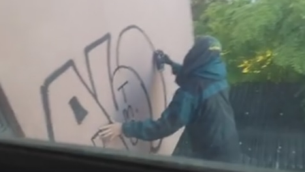 Article image for Neil Mitchell sent video of graffiti vandal on roof of woman's home