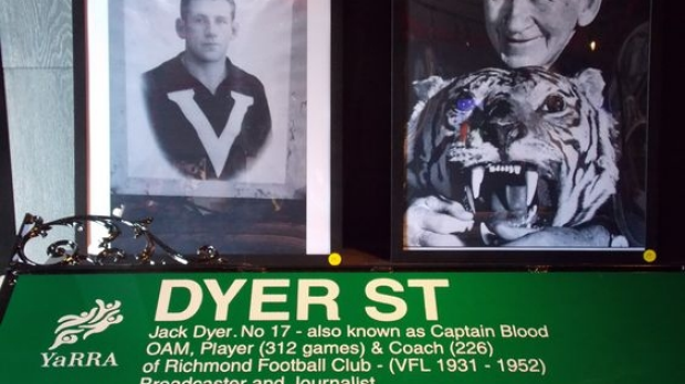 Article image for Richmond immortal Jack 'Captain Blood' Dyer is getting a street named in his honour