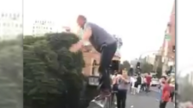 Article image for Man filmed jumping into the Yarra River from the Princes Bridge