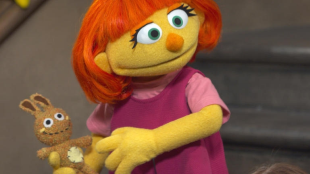 Article image for Sesame Street has a new muppet named Julia, who has autism