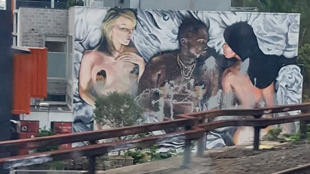 Article image for Graffiti vs. Art… Where do we draw the line? Melbourne father offended by Kanye West mural
