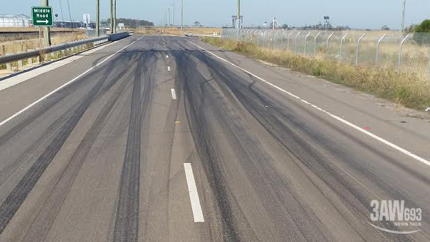 Article image for RUMOUR FILE: An illegal drag strip has been set up on a public road in Melbourne's west