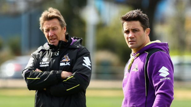 Article image for Melbourne Storm coach Craig Bellamy was full of praise for his departing halfback