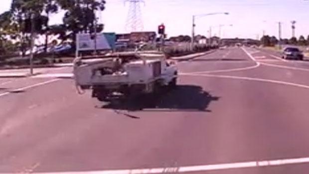 Article image for Dangerous pursuit outside Sunshine hospital captured on dashcam