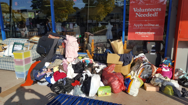 Article image for 'I am sad and mad': People are still dumping their crap on Salvos door