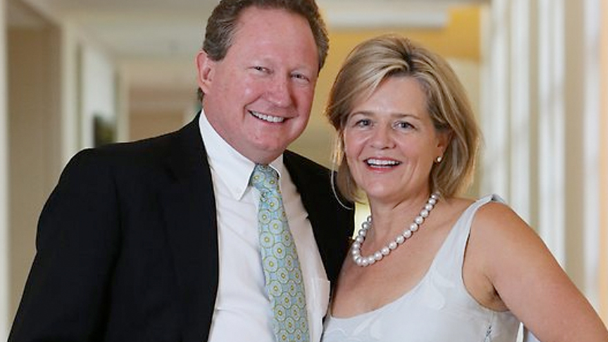 Andre Twiggy Forrest and Nicola Forest