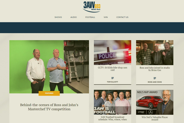 Article image for The 3AW website has a fresh new look