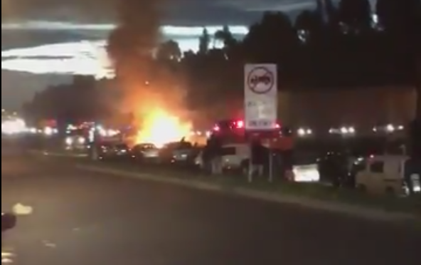 Article image for Car fire stops the Eastern Freeway