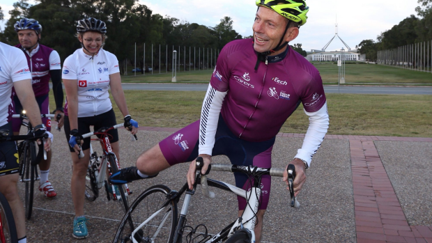 Article image for Tony Abbot is riding around the country for the Pollie-pedal and spoke with Neil