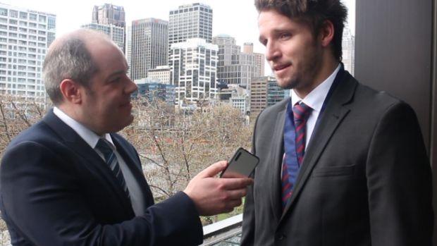 Article image for Melbourne forward Jesse Hogan wins the AFL's 2015 Rising Star award