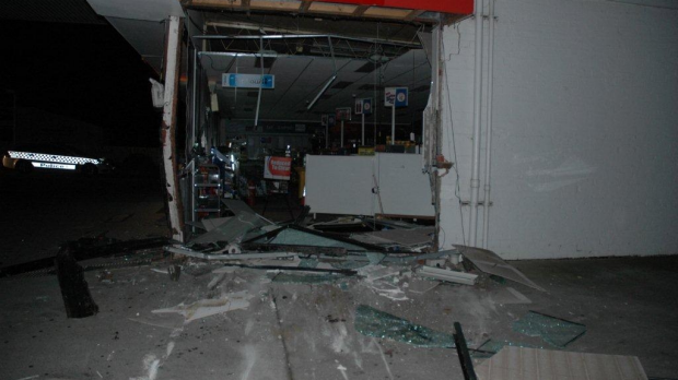 Article image for Daring thieves use stolen bulldozer to steal Whittlesea ATM