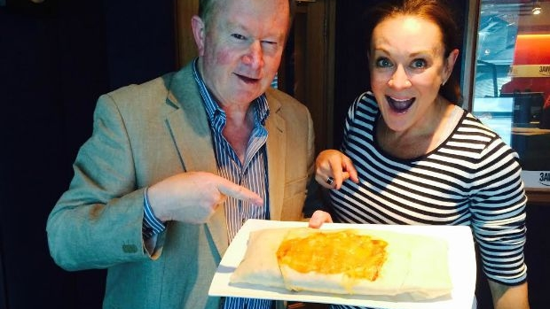 Article image for Michelle Bridges, Denis Walter and a giant burrito