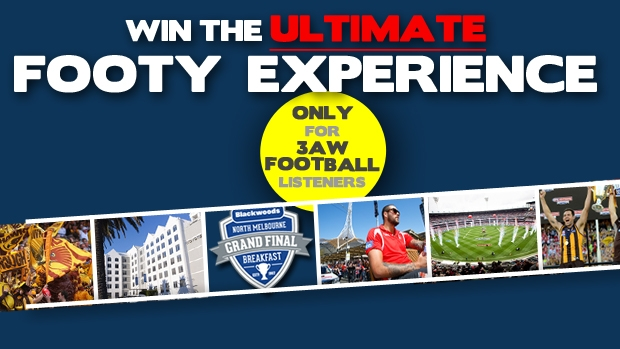 Article image for Win the ultimate grand final experience with 3AW Football