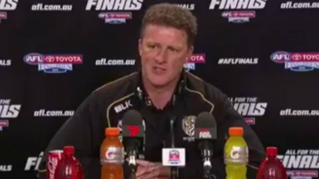 Article image for 'You moron': Tigers coach lashes out in press conference