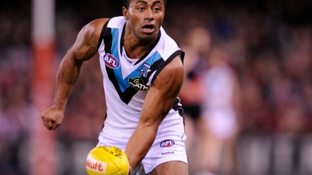 Article image for Former Port Adelaide star David Rodan training to be a goal umpire