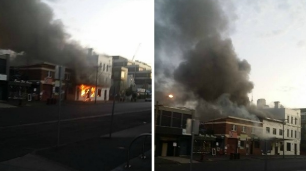 Article image for Crews battle blaze at South Melbourne pub