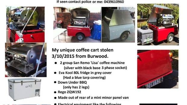 Article image for Heartfelt plea to return home-made coffee cart