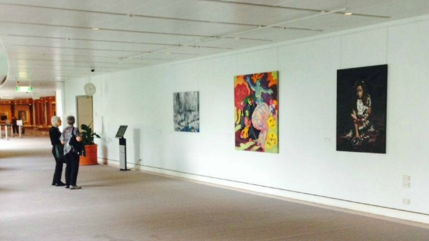 Article image for Too rude? Liberal MP Craig Kelly questions Parliament House artwork