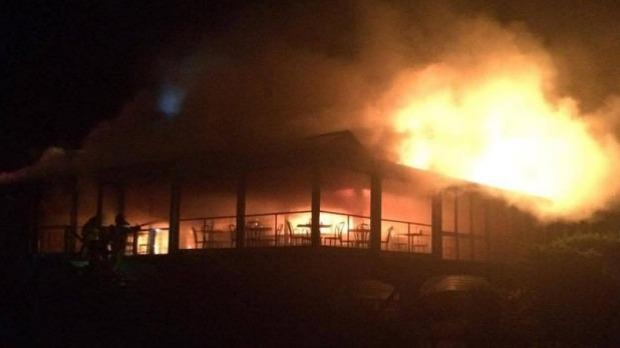 Article image for The Baths restaurant in Sorrento goes up in flames