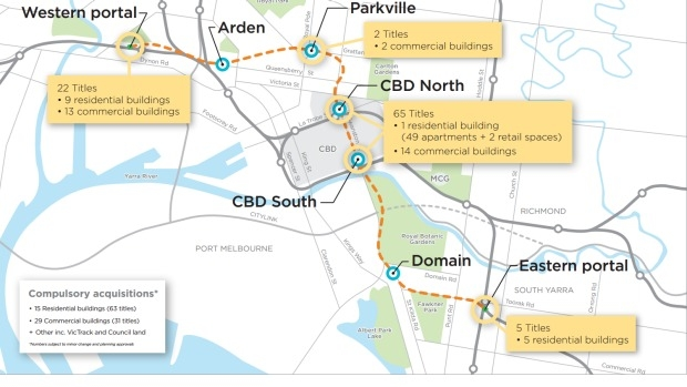 Article image for Government admits 'minor' additions may be included in acquisitions for Melbourne Metro Rail