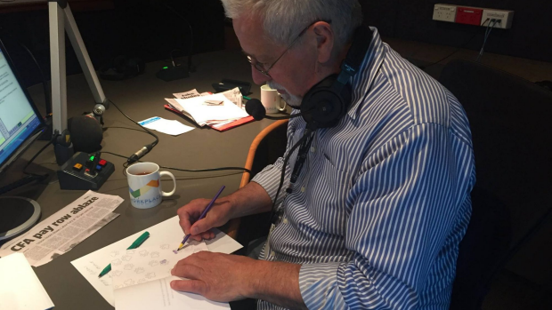 Article image for Neil Mitchell tries adult colouring-in