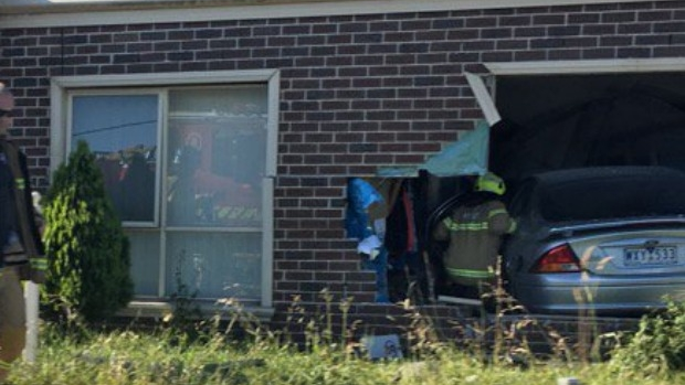 Article image for Car smashes through house at Pascoe Vale